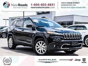 2016 Jeep Cherokee 4x4 Limited|BACKUP CAMERA|LEATHER|SUNROOF|