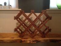 10 Bottle dark wood, Folding wine Rack