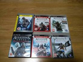 PS3 PlayStation 3 Assassin's CREED 6 Six Games Bundle UK Delivery