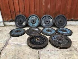 110kg Cast Iron Weights plates. •Can Deliver•