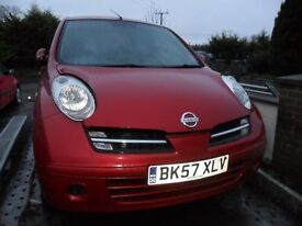 nissan micra 1.2 5 door met red light damage repairable rear damage