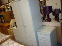 Wardrobe and bed side draws
