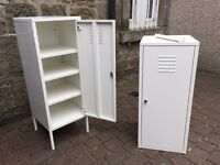 Metal storage cabinets with locks