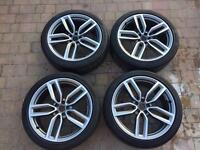 "Audi SQ5 Q5 21"" Twin Spoke Diamond Cut 8.5x21 GENUINE Alloy wheels and Tyres"