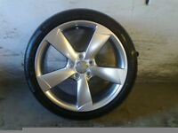 ALLOYS X 4 OF 18 INCH GENUINE AUDI A3 5/SPOKE/ROTA/FULLY POWDERCOATED INA STUNNING SHADOWCHROME NICE