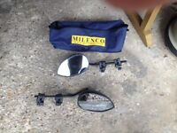 pair of milenco towing mirrors and bag