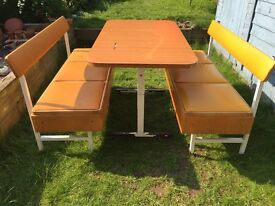 Vintage retro table and benches