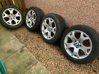 """BMW X5 Staggered Tiger Claw 19"""" Alloys 5x120. Needs new tyres."""