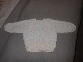 HAND KNITTED NEW GIRLS JUMPER AGE 12MTHS