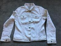 Denim Co denim white waist jacket ladies size 10 v.good condition Used 2 times £7