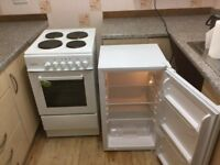 Free Standing Cooker & Fridge for Sale