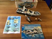 LEGO 7899 - Police Patrol Boat with Helicopter & 3 mini figures