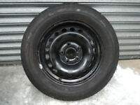 "VW GOLF MK5 15"" Steel Spare Wheel with 195/65 R15 Tyre ET47 5x112 MK6 Caddy Jetta SEAT Ibiza"
