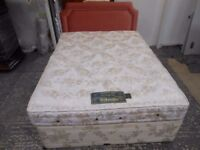 gorgeous 4 drawer double bed sprung base with a millbrook bedding sprung mattress. excellent con