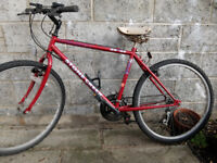 Red Mountain Bike, Small 18inch 46cm frame. 18 gears