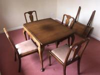 Vintage 1954 Teak Table and Chairs