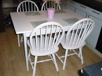 dining table n 4 chairs off white farrow n ball