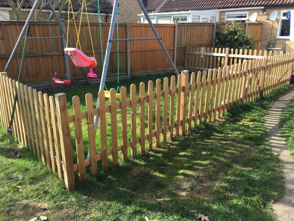 Picket fence panels 3ft by 59ft x 7 plus gate in norwich picket fence panels 3ft by 59ft x 7 plus gate baanklon Choice Image