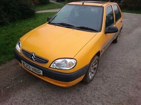 CITREON SAXO 1.1 -- CHEAP AND RELIABLE -- NOVEMBER M.O.T. -- 78,000 MILES