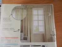 BRAND NEW CURTAINS (CREAM) SIZE IN PICTURES