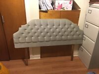 Stunning silver-grey-green headboard for double bed