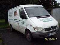 mercedes sprinter 208cdi 2004 mwb flat top