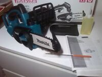 new makita 18v LXT chainsaw duc122z - Made in Japan. duc122 bare tool