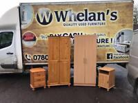 Pine wood wardrobe & beechwood wardrobe £80 a piece/matching bedside lockers £20 a piece