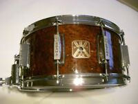 """Asama Percussion wooden snare drum - 14 x 6 1/2"""" - Japan - '80s - Tama King Beat homage"""