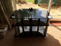 Free Glass TV & DVD Stand Available for Collection