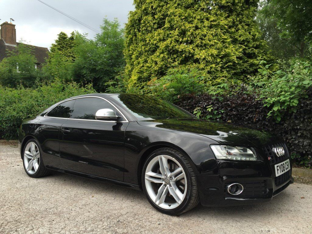 2008 audi s5 4 2 v8 fsi coupe black with ivory leather. Black Bedroom Furniture Sets. Home Design Ideas