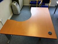 *REDUCED PRICE FOR A LIMITED TIME* Large Sturdy Beech Wood Effect Desks - 2 Still Available