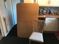 Dining Table & 4 Chairs (New but damaged)