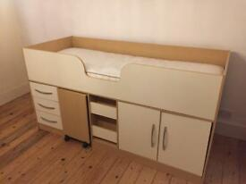 Kids cabin bed with mattress