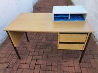 Rectangular H Leg Single Pedestal / Drawer Desk