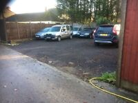 yard space to let holds 20 cars in secure yard suit storage or sales not for car wash
