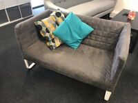 Ikea KNOPPARP 2-Seater Sofa in Grey (Great Condition / Collection Only)