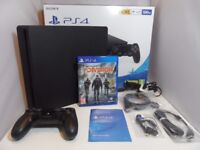 Sony PlayStation 4 / PS4 Slim 500GB Matte Black Console with Game and Warranty