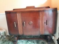 Charming 1940s sideboard, extending table and four chairs