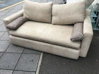 FABRIC 3 SEATER SOFA VERY COMFY + CUSHIONS