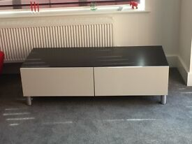 2 DRAWER STORAGE UNIT - SUITABLE FOR USE AS A TV UNIT OR LIVING ROOM STORAGE