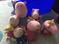 Peppy pig cuddly toys