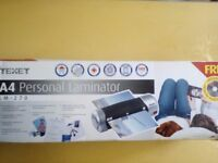 Brand new Texet A4 Personal Laminator LM-270 only £9