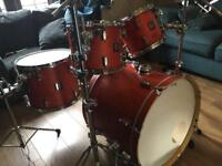 Sonor Force 2003 Birch Drum Kit in Sunset Red
