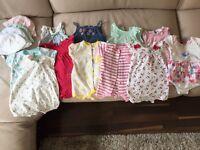 Baby Girl - Summer Romper bundle 0-3 months
