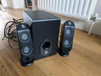 Logitech X-230 2.1 speaker system with subwoofer
