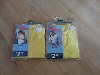 GEORGE (Asda) YELLOW POLO SHIRT for GIRLS TWINPACK BRAND NEW x2 great for summer in school! Age 5-6