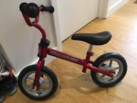 Chicco Red Bullet balance bike in excellent condition