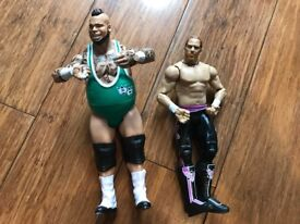 Wrestling figures - hardly used, cost around £30 new. all moveable joints etc. xmas gift?