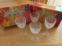 Crystal Wine Glasses (8 glasses Boxed)